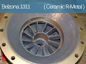 A ceramic filled epoxy-based composite for metal repair and erosion and corrosion protection.