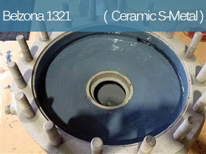 A ceramic filled epoxy coating designed to provide erosion and corrosion resistance of metal surfaces.