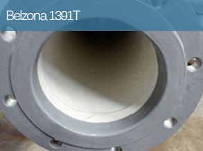 Hand applied erosion and corrosion resistant coating for high temperature equipment operating under immersion.