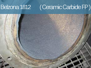 An abrasion resistant composite material for the repair and lining of metal surfaces suffering from fine particle erosion.