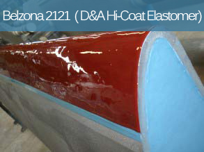 A flexible abrasion resistant polyurethane elastomer for the coating of metal surfaces and rubber components.