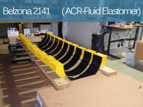 A flexible cavitation and abrasion resistant polyurethane elastomer for the coating of metal and rubber components.