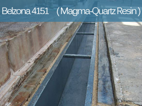 An epoxy resin for the treatment and protection of concrete surfaces exposed to chemical attack and abrasion.