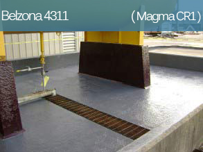 A chemical resistant epoxy coating for protection of concrete and metal surfaces.