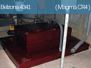 A high temperature epoxy coating for concrete and metal surfaces in contact with hot inorganic acids.
